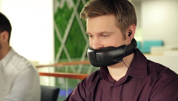 Bizarre noise-cancelling mask stops colleagues eavesdropping on your conversations