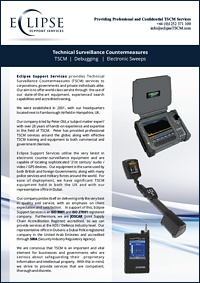 Eclipse Support Services TSCM Brochure 2017